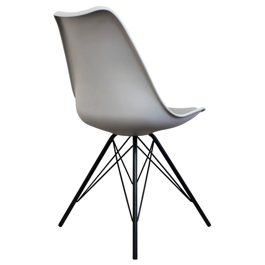 light grey chair cover rentals los angeles copenhagen with black metal legs by