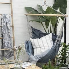Hanging Chair Notonthehighstreet Ingenuity High 3 In 1 Manual Handmade Denim Hammock By Ella James Com