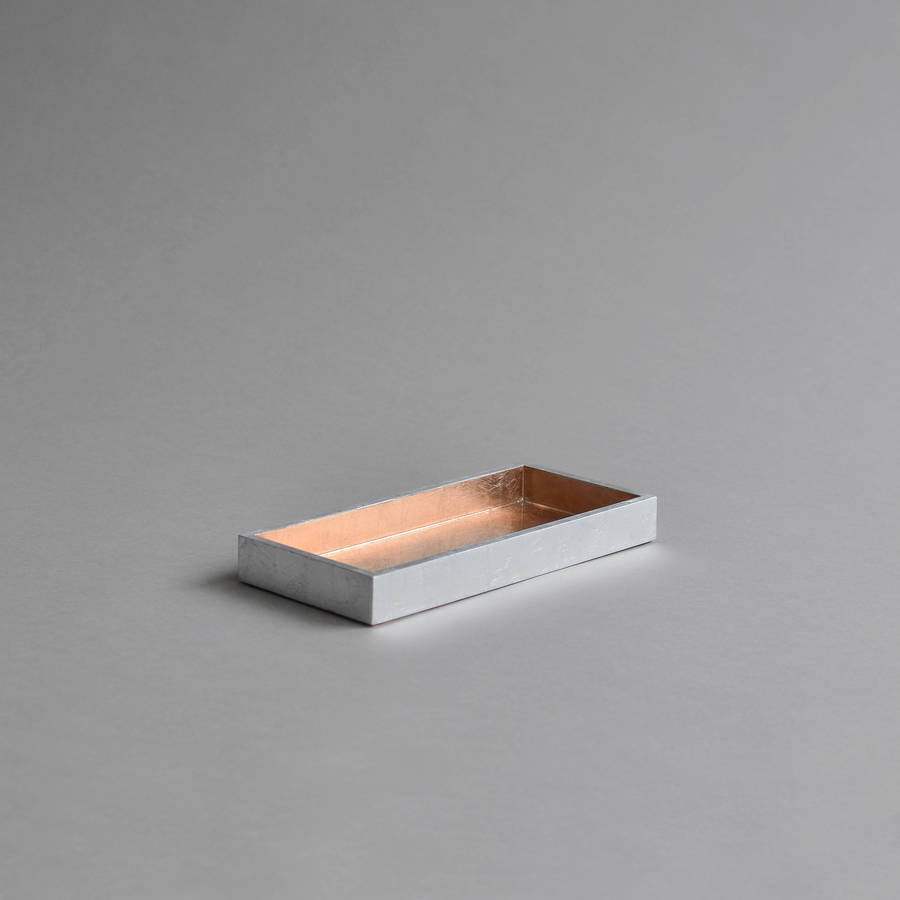kitchen tray curtins mini lacquer bathroom by nom living rose gold silver
