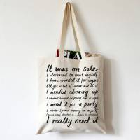 'it was on sale' canvas tote bag by karin kesson design ...