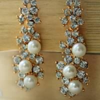 crystal pearl drop earrings by rabal | notonthehighstreet.com