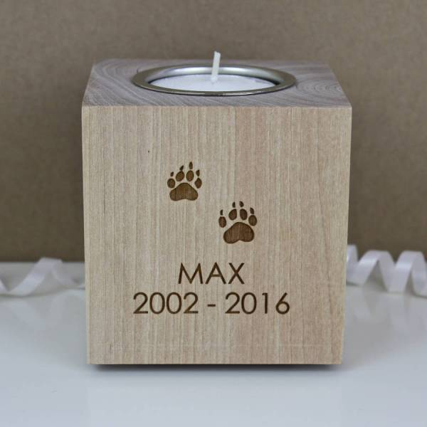 Pet Memorial Tea Light Candle Holder Adam Regester