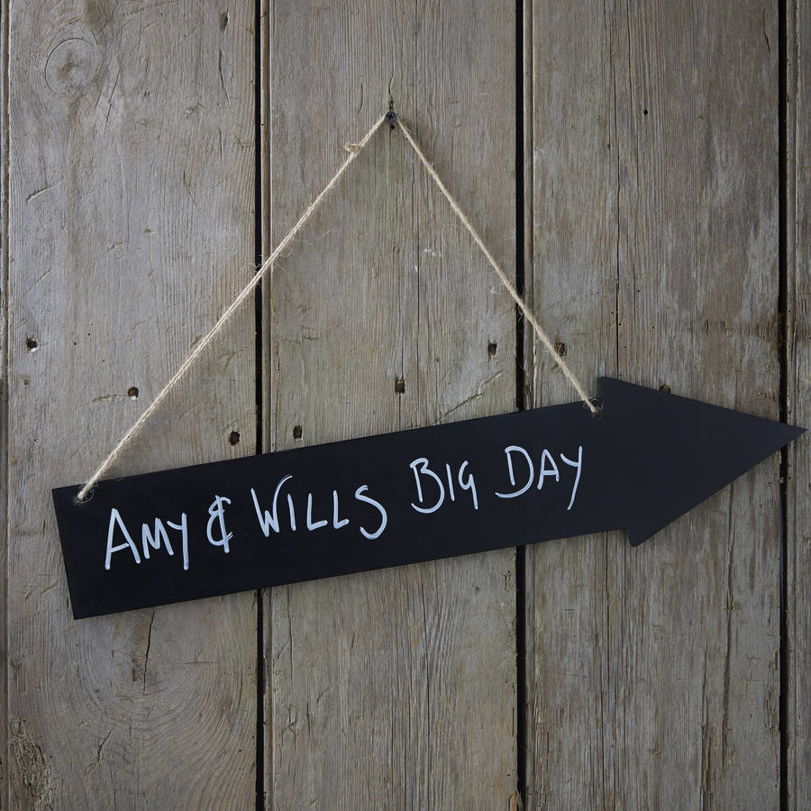 vintage chalkboard arrow decoration sign by ginger ray