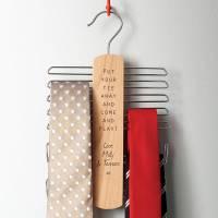 personalised tie rack and belt hanger by delightful living ...