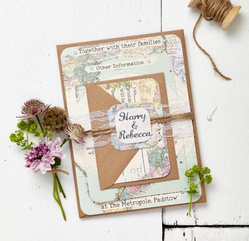 Map Wedding Invitations Nickhaskins