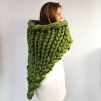 chunky knit wrap shawl by wool couture ...