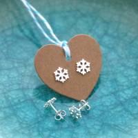 silver snowflake earrings by dizzy | notonthehighstreet.com