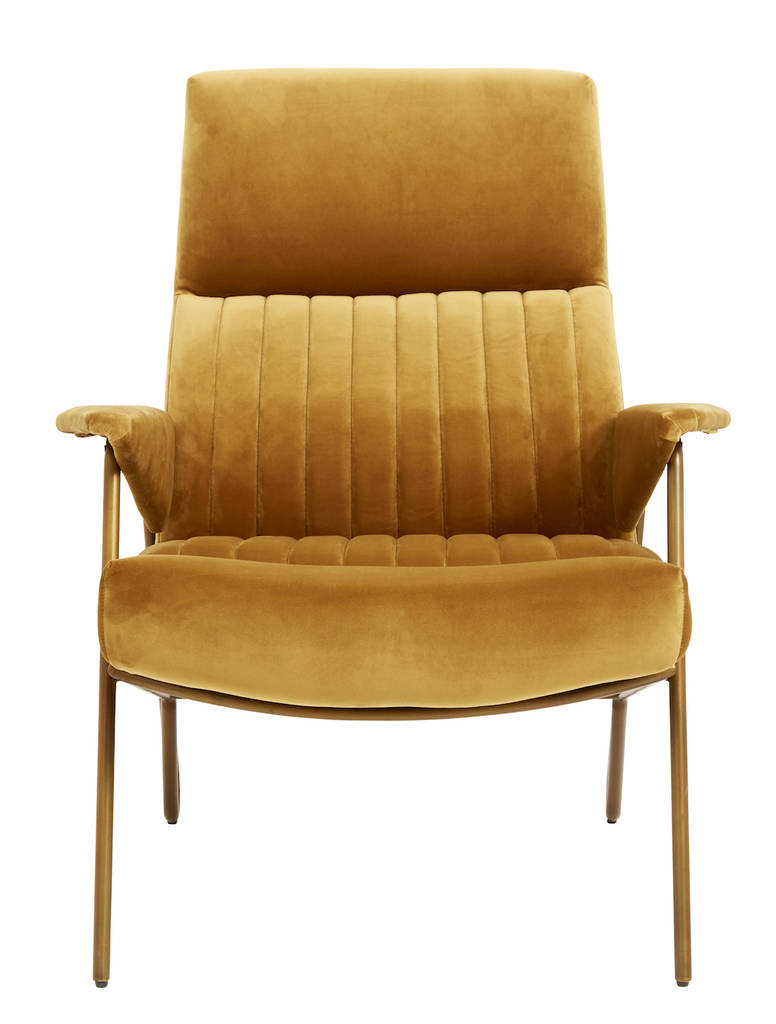 high backed chair revolving net velvet mustard by the forest co