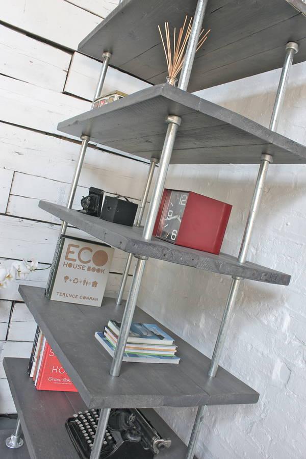 Dante Industrial Reclaimed Scaffolding Shelves By Urban Grain