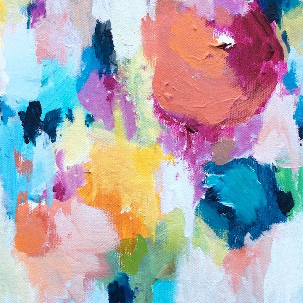 flower abstract pastel painting