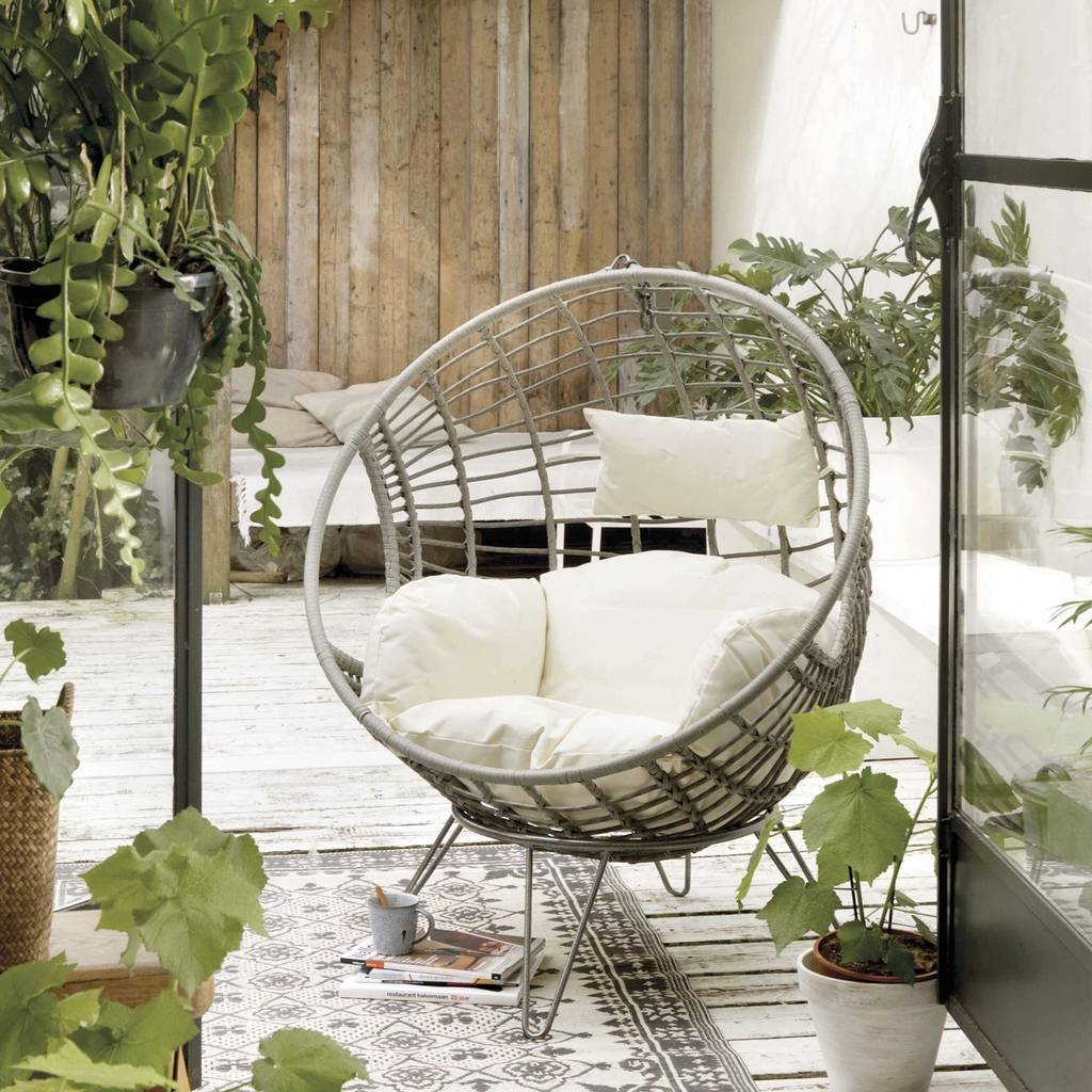 Egg Wicker Chair Indoor Outdoor Freestanding Egg Chair