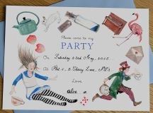 alice in wonderland mad hatter tea party invitations by ...