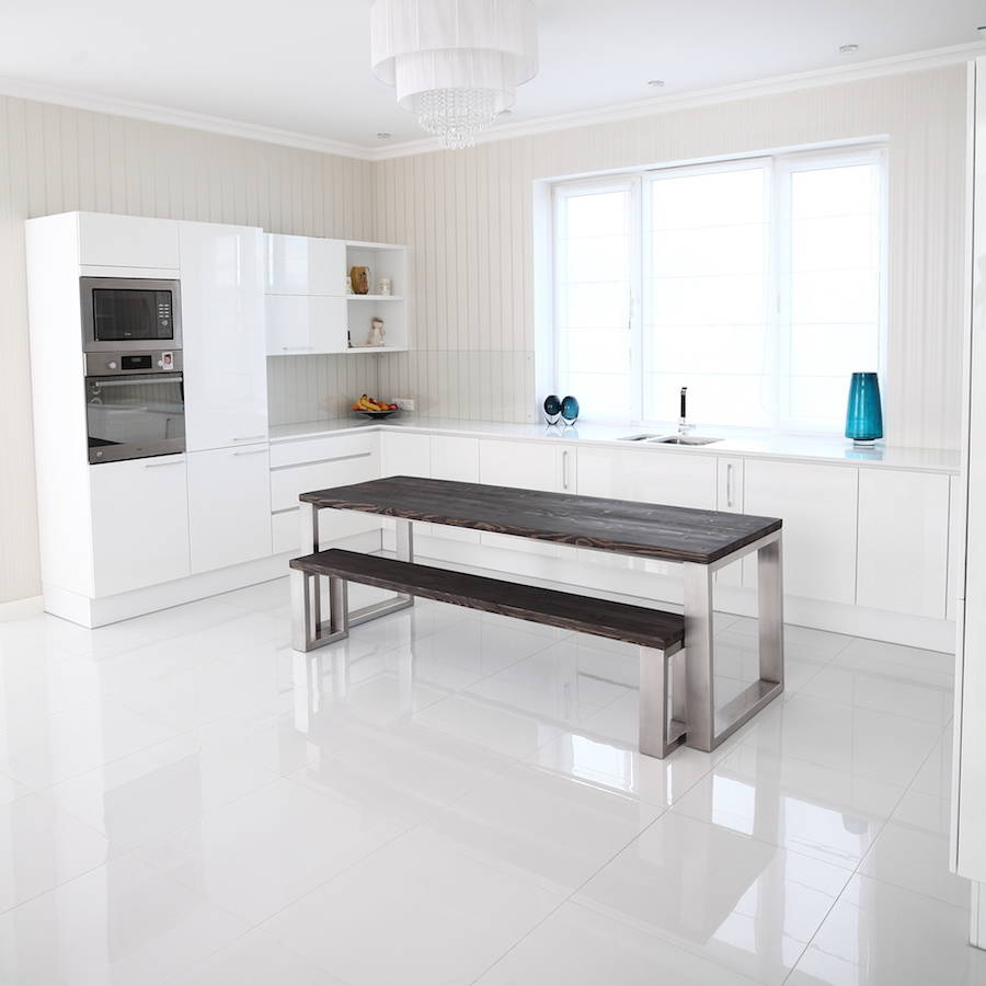 stainless steel kitchen table farmers sinks for square shaped dining by cosywood