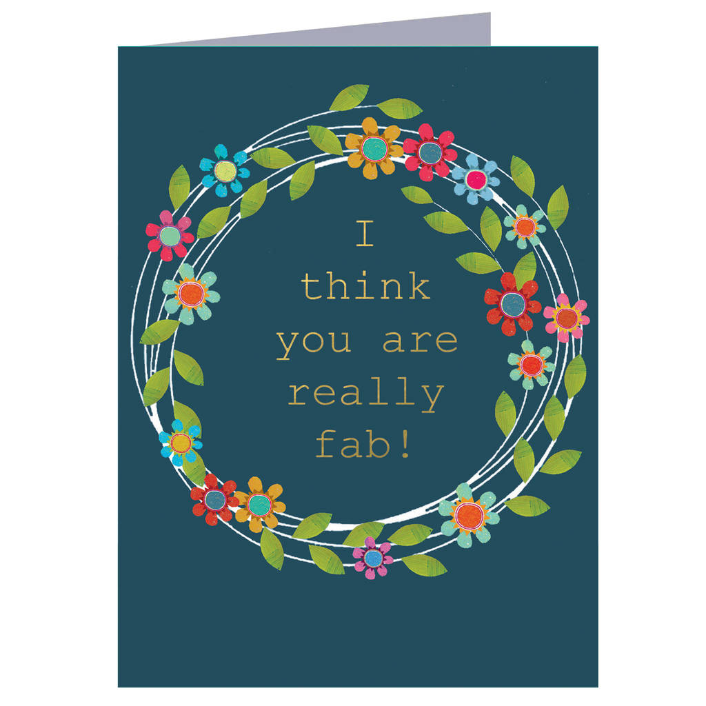 You Are Fab Mini Greetings Card By Kali Stileman