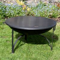 plain jane firepit with swing arm bbq rack by firepits uk ...