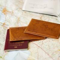 world map passport holder wedding gift set by stabo ...