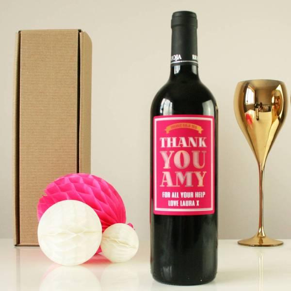Personalised ' Wine Bottle Bazaar