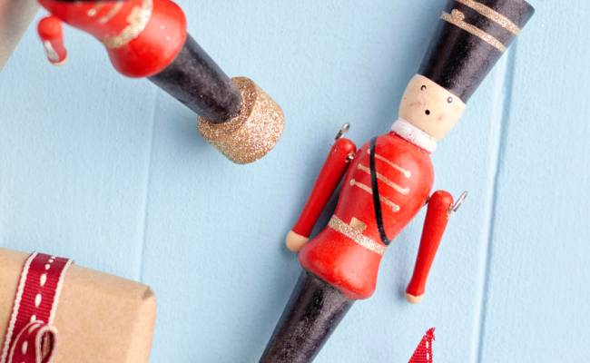Wooden Soldier Christmas Tree Decoration By The Christmas