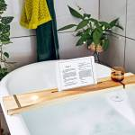 Personalised Ash Wood Bath Caddy By The Forest Co Notonthehighstreet Com