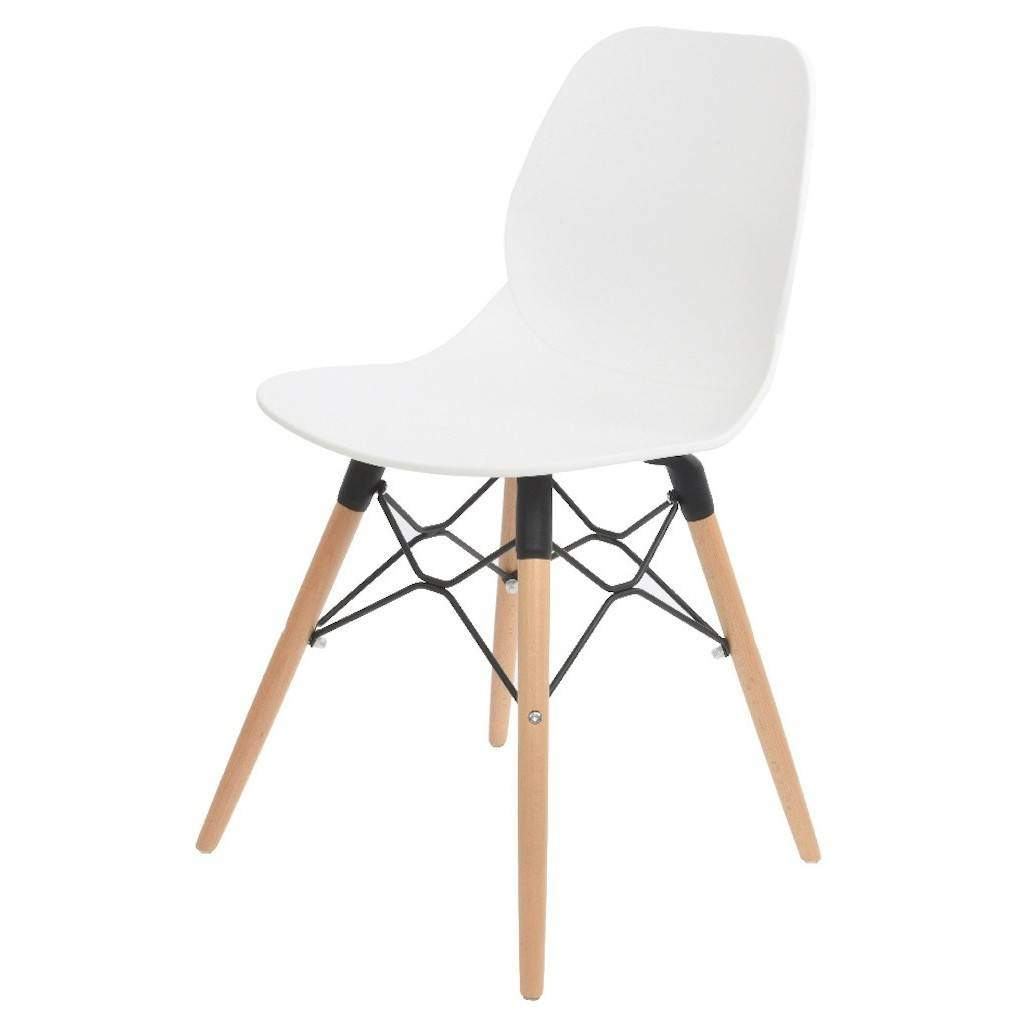 white scandinavian dining or office chair by ella james