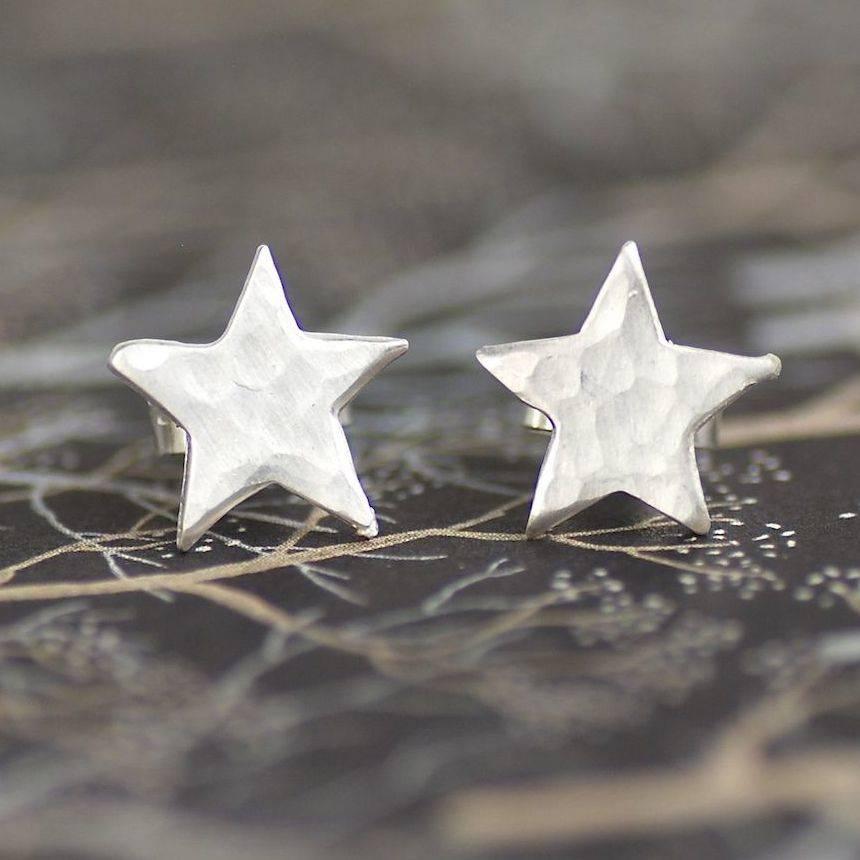 sterling silver star stud earrings by penelopetom