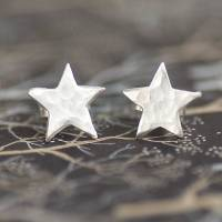 sterling silver star stud earrings by penelopetom