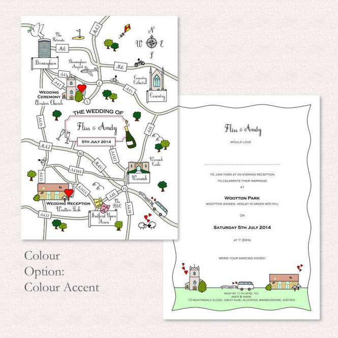 5 Wedding Invitations With Personalized Maps Gourmet Gifts Guest Favors And Customized