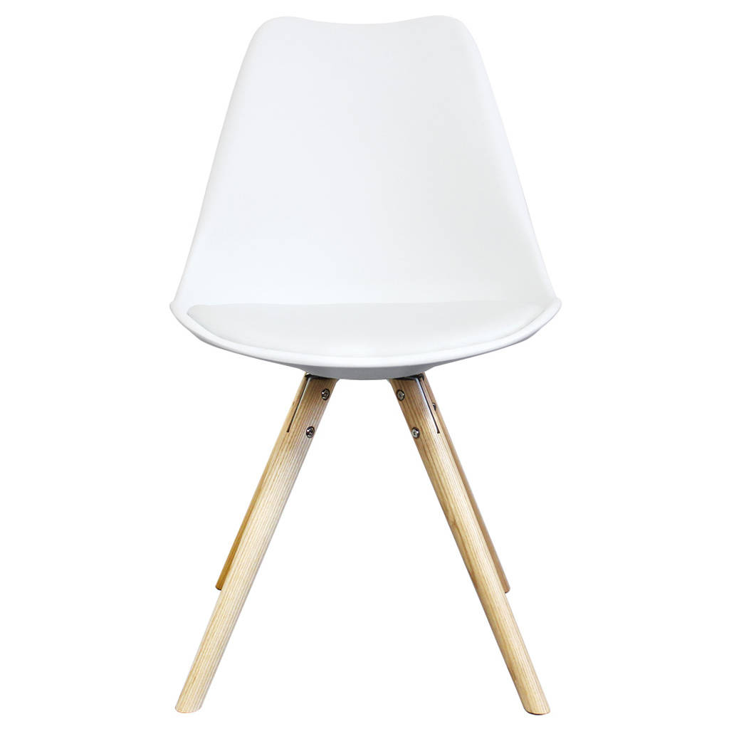 high chair wooden legs caramel leather dining chairs white copenhagen with by circle 43 line