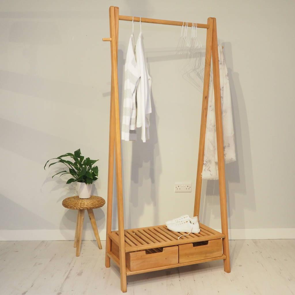 wooden clothes rack stockholm