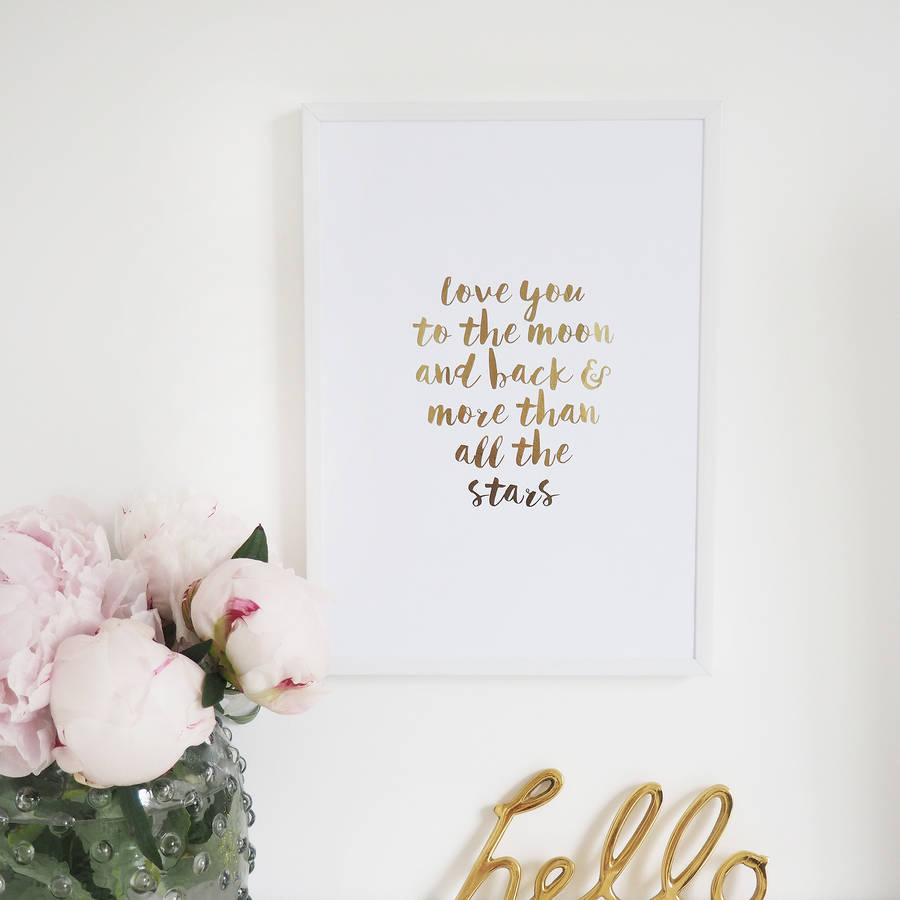 we love you to the moon and back wall art we love you to the moon