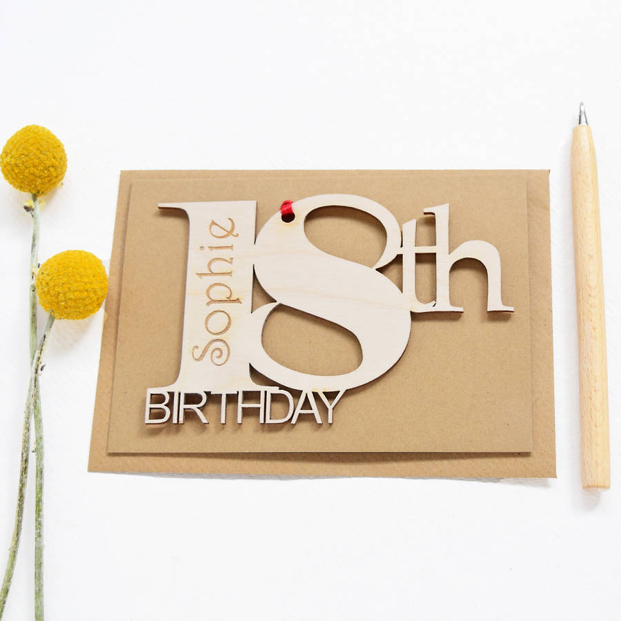 Personalised 18th Birthday Card By Hickory Dickory Designs