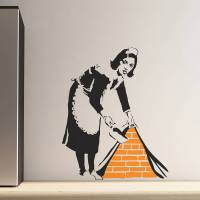 banksy maid wall stickers by the binary box ...