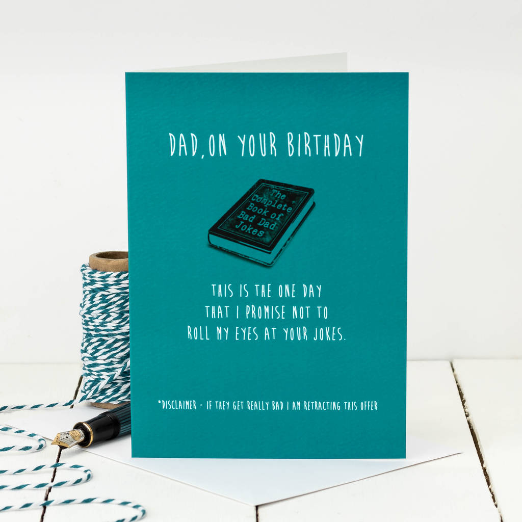 Birthday Card For Dad 'bad Dad Jokes' By Coulson Macleod