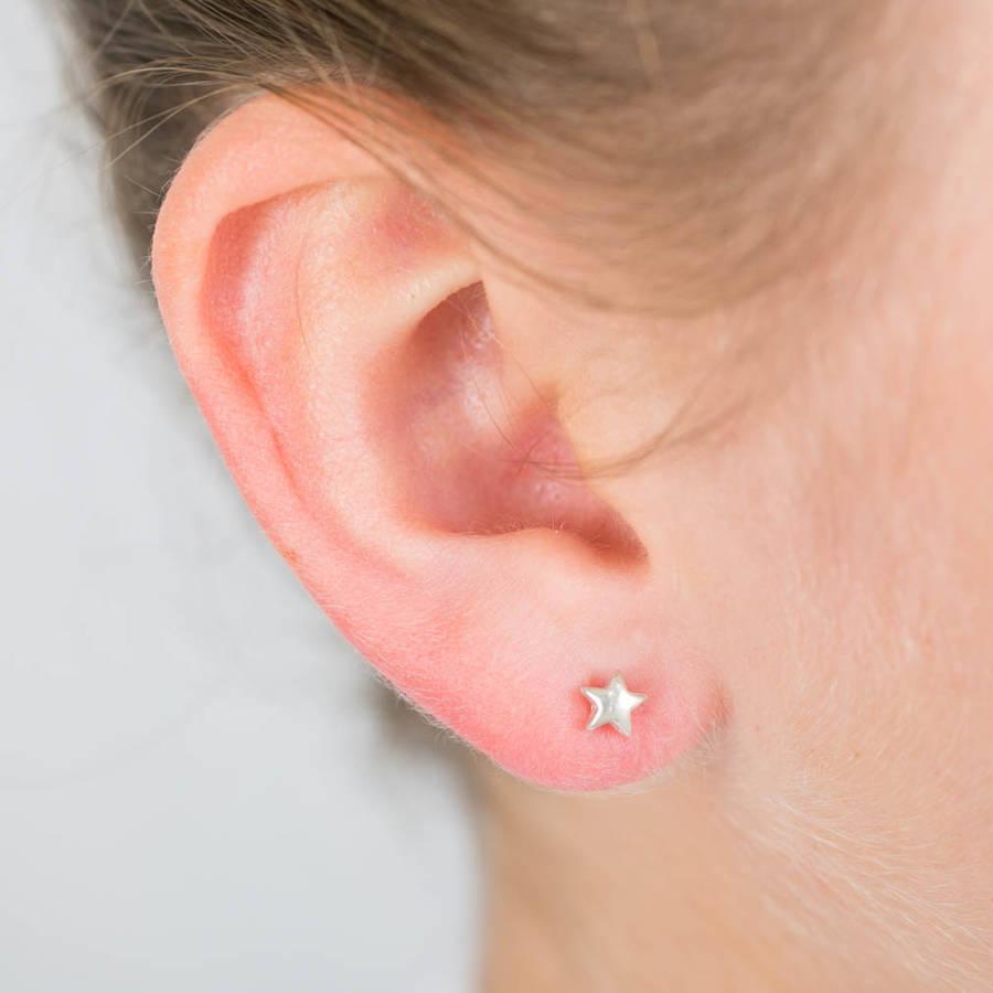 star silver stud earrings by lovethelinks