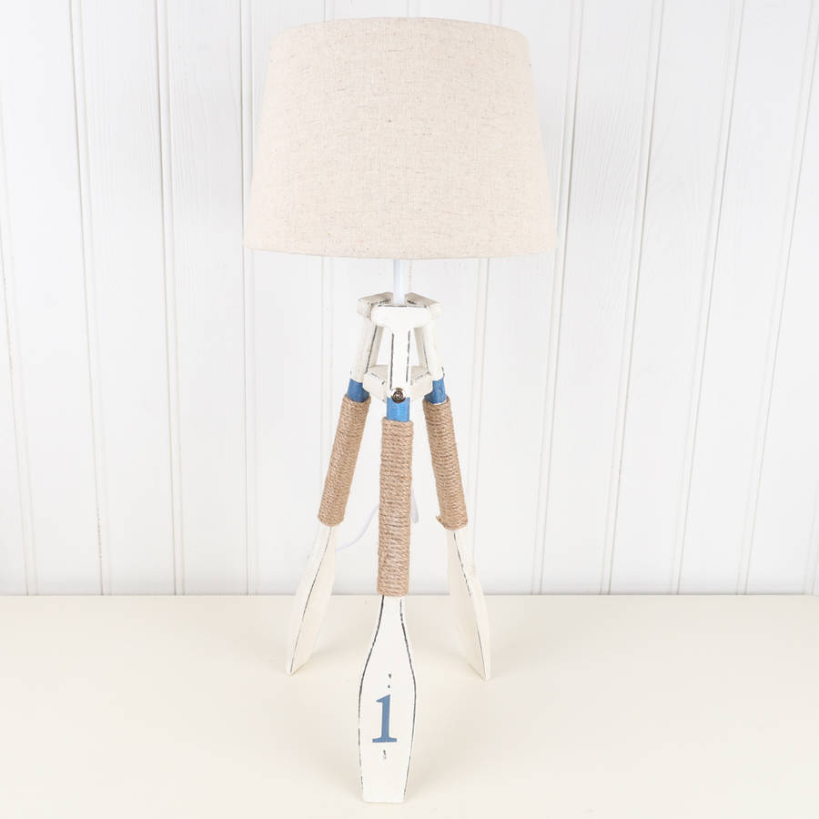 nautical tripod sea ore lamp with shade by dibor