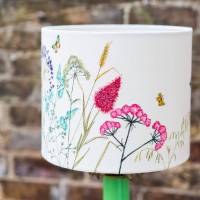 embroidered 'floral' lampshade by lara sparks embroidery ...