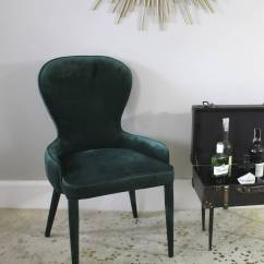 Emerald Green Velvet Chair Best Compact High Cocktail By Ella James