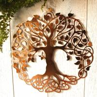 copper tree of life wall art by london garden trading ...