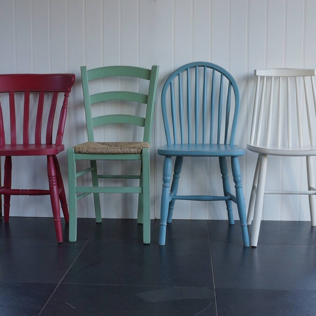 Mismatched Dining Chairs Mismatched Chairs Hand Painted In Any Colours By Rectory