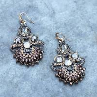 vintage style handmade chandelier earrings by the linen ...