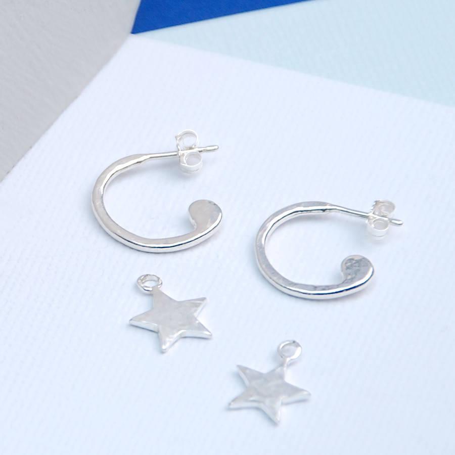 sterling silver star sleeper earrings by penelopetom