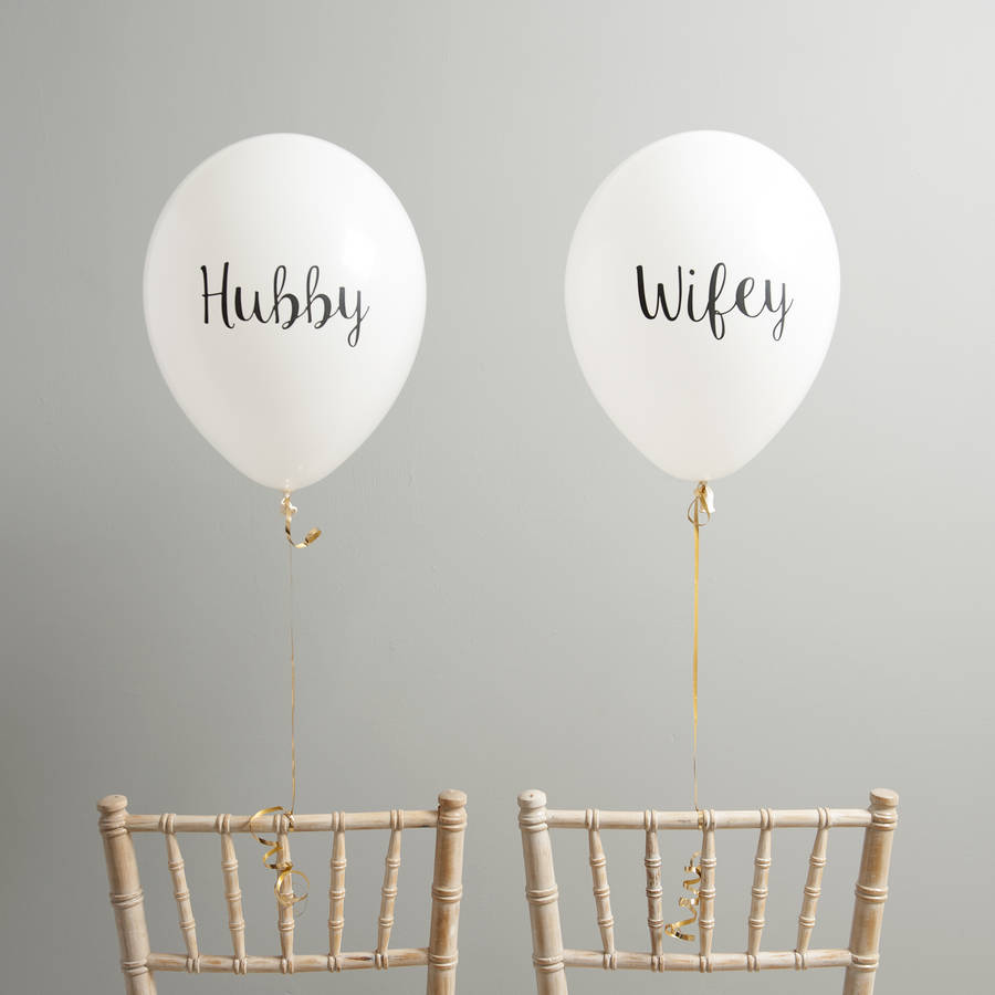 chair with balloons large bed hubby and wifey wedding back by bubblegum