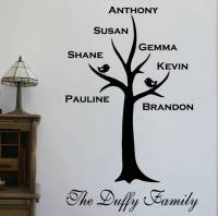 personalised family tree wall sticker by wall art quotes ...