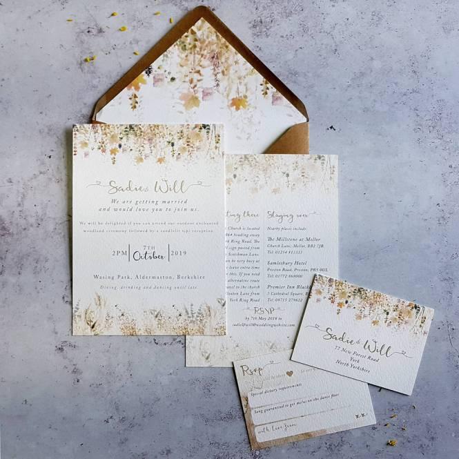 Whimsical Autumn Wedding Invitation