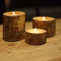 tree branch tea light holders set of three by the wedding