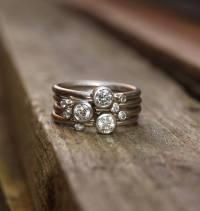 diamond stacking rings in 18ct white gold by karen johnson ...