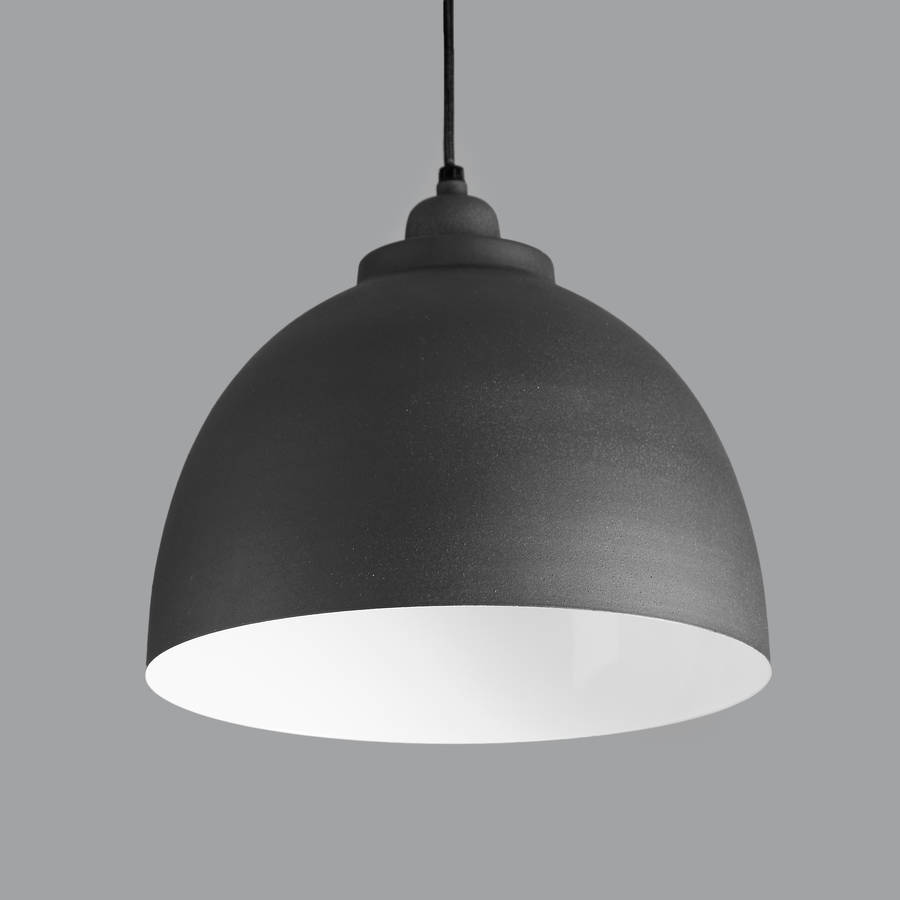 cement grey pendant light by horsfall & wright