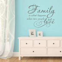 family love quote vinyl wall sticker by mirrorin ...