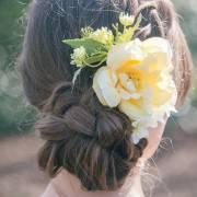 pixie pastel flower hair comb