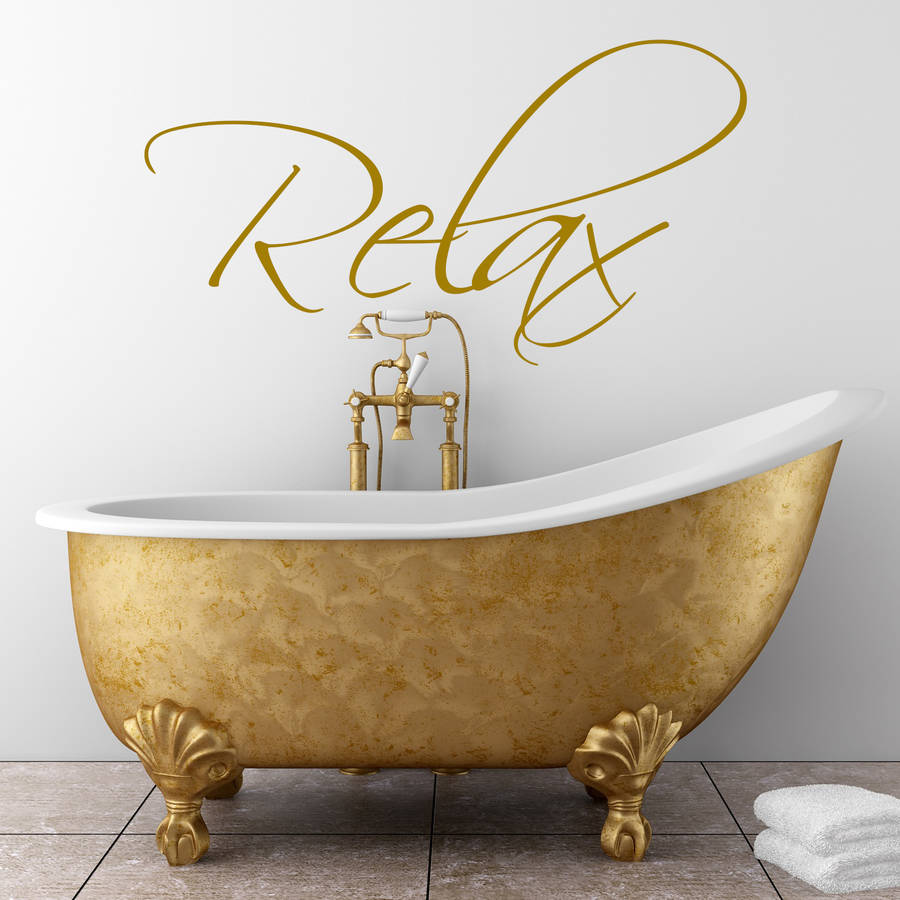 bathroom wall art sticker by wall art quotes  designs by gemma duffy  notonthehighstreetcom
